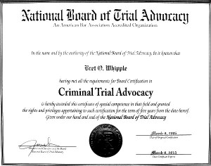 National Board of Trial Advocacy Certification