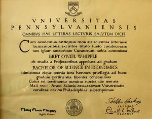 University of Pennsylvania Bachelor of Science in Economics